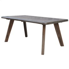 RUXON DINING TABLE  Reclaimed Wood with Galvanized Metal Top