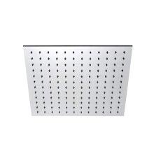 "INOX stainless steel 15 3/4"" square shower head, Satin finish"