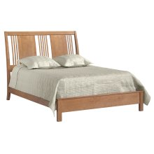 American Expressions King Spindle Sleigh Bed