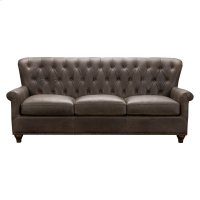 Charlie Tufted Leather Sofa in Heritage Brown Product Image