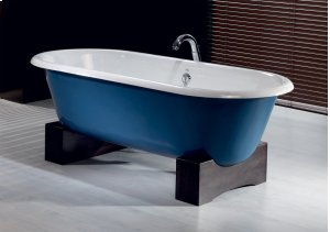 REGAL Cast Iron Bath with Wooden Base With Flat Area for Faucet Holes Product Image