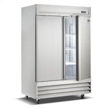 Two Door, Stainless Steel Solid Door Commercial Refrigerator