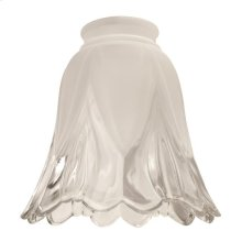 "2 1/4"" Glass- Frosted/Clear Scalloped Bell"