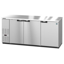 HBB-3-80-S, Refrigerator, Three Section, Stainless Steel Back Bar Back Bar, Solid Doors