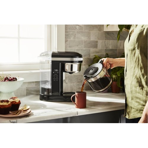 12 Cup Drip Coffee Maker with Spiral Showerhead - Onyx Black