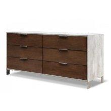 Nova Domus Conner Modern Dark Walnut & Concrete Dresser