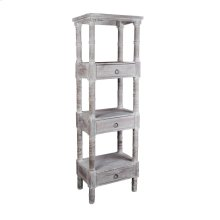 CC-RAK035S-LW  Distressed Gray Wood Shelves