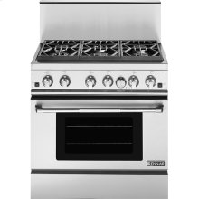 "36"" Pro-Style® Gas Range with Convection, Pro-Style® Stainless Handle"