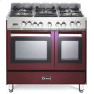 """Burgundy 36"""" Dual Fuel Double Oven Range - 'N' Series Product Image"""