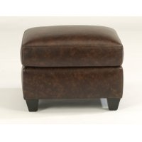 Roscoe Leather Ottoman Product Image