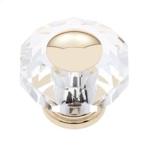 24k Gold 50 mm 8-Sided Crystal Knob