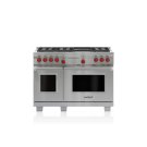 """48"""" Dual Fuel Range - 6 Burners and Infrared Charbroiler Product Image"""