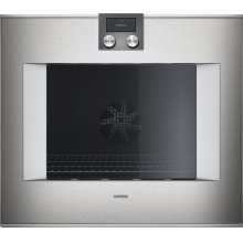 "400 series 400 series oven Stainless steel-backed full glass door Width 30"" (76 cm) Right-hinged Controls on top"