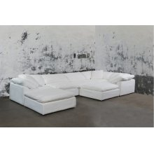 Sunset Trading Cloud Puff Slipcovered 7 Piece Modular Sectional Sofa - 391081