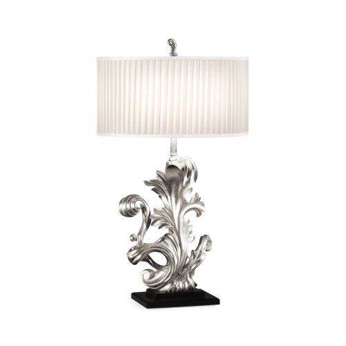 Silver Gilded Carved Table Lamp