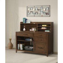 Vogue - Computer Credenza - Plymouth Brown Oak Finish