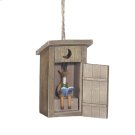 Outhouse w/Deer Inside Ornament Product Image