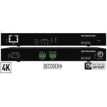 4K UHD AV over IP Decoder, PoE, 2x IR/RS-232 control ports - Shipping Q3 2019