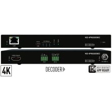 4K UHD AV over IP Decoder, PoE, 2x IR/RS-232 control ports