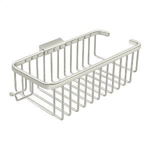 """Wire Basket 10-3/8"""", Deep, Rectangular with Hook - Polished Nickel Product Image"""