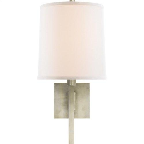 Visual Comfort BBL2028PWT-L Barbara Barry Aspect 11 inch 75 watt Pewter Finish Swing-Arm Wall Light