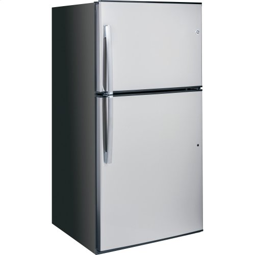 GE® ENERGY STAR® 21.2 Cu. Ft. Stainless Top-Freezer Refrigerator
