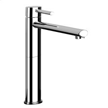 """Tall single lever washbasin mixer with pop-up assembly Extended spout projection 8-5/16"""" Height 11-3/4"""" Includes drain Max flow rate 1"""