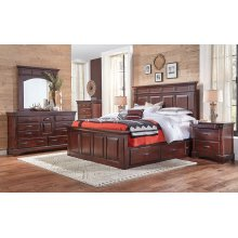 Cal King Mantel Storage Bd
