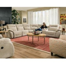 "LAF ""J"" Sectional, Single Recliner"