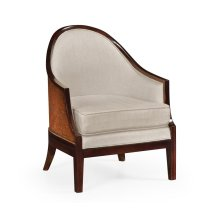 Occasional armchair, upholsteried in MAZO