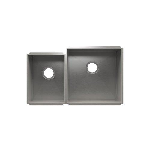 """UrbanEdge® 003639 - undermount stainless steel Kitchen sink , 12"""" × 16"""" × 8""""  18"""" × 18"""" × 10"""""""