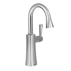 Etch chrome one-handle pulldown bar faucet Product Image