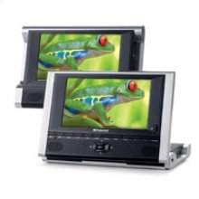 "DPA-07051B: 7"" Two Screen Portable DVD Player"