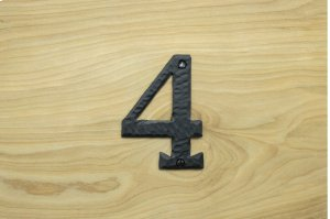 "4 Black 4"" Mailbox House Number 450150 Product Image"