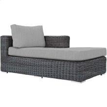 Summon Outdoor Patio Sunbrella® Right Arm Chaise in Canvas Gray