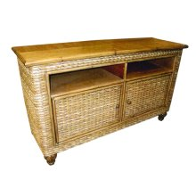 Plasma Stand, Available in Antique Palm Finish Only.