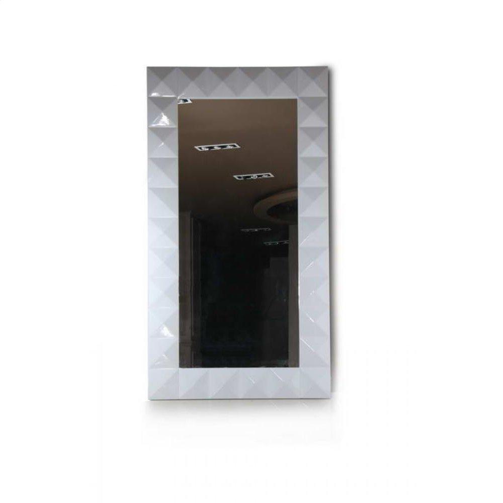 Versus Eva - Vertical Standing White Lacquer Floor Mirror