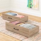 Set of 2 Storage Drawers on Wheels - Rustic Oak Product Image