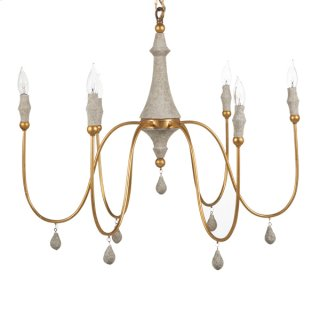 Clay Chandelier - Silver