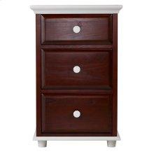 3 1/2 Drawer Dresser w/ Crown & Base - Two Tone
