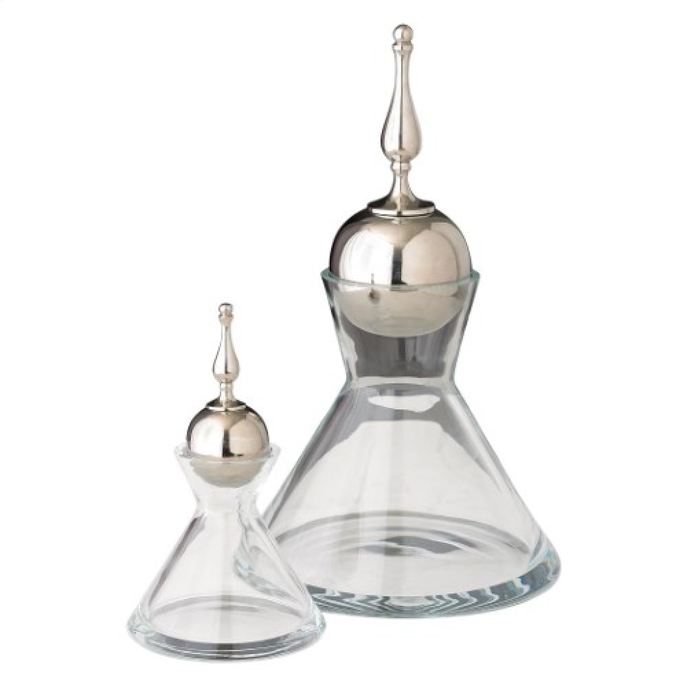 Finial Decanter-Nickel-Lg