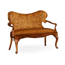 Seaweed marquetry loveseat (Leather)