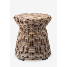 Seascape Driftwood Rattan Side Table(20X20X22)