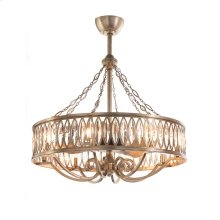 Marquise Crystal Eight-Light Pendant with Fan