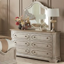 Elizabeth - Six Drawer Dresser - Smokey White/antique Oak Finish