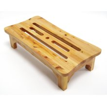 "AB4408 24"" Solid Wood Stepping Stool for Easy Access"