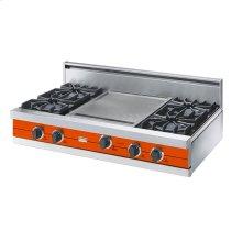 "Pumpkin 42"" Open Burner Rangetop - VGRT (42"" wide, four burners 18"" wide griddle/simmer plate)"