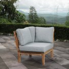 Marina Outdoor Patio Teak Corner Sofa in Natural Gray Product Image