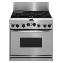 "36"" Width 6 Burners Porcelain-on-Steel Cooktop True Convection Oven Dual Fuel Freestanding or Slide-In Range"