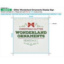 Glitter Wonderland Ornaments Sign.